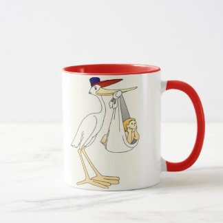 Stork Baby Delivery Support Team Mug