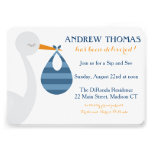 Stork Baby Invitation / Baby Announcement Personalized Invitations