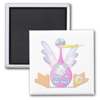 Stork Baby on the Way Magnet