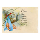 STORK BABY SHOWER 2 LARGE BUSINESS CARD