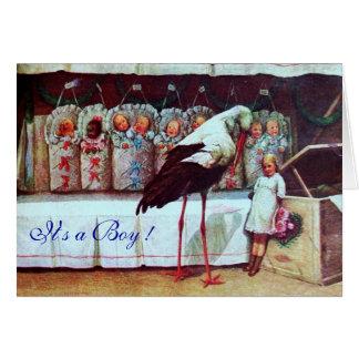 STORK BABY SHOWER 3 CARD