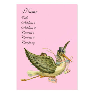 STORK BABY SHOWER BUSINESS CARD TEMPLATE
