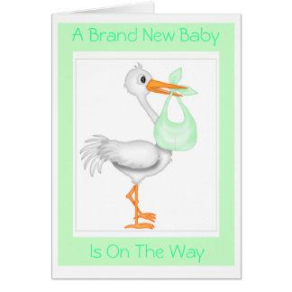 Stork Baby Shower Card (Unisex)