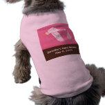 Stork Baby Shower Dog Tank - Pink/Brown Doggie T-shirt
