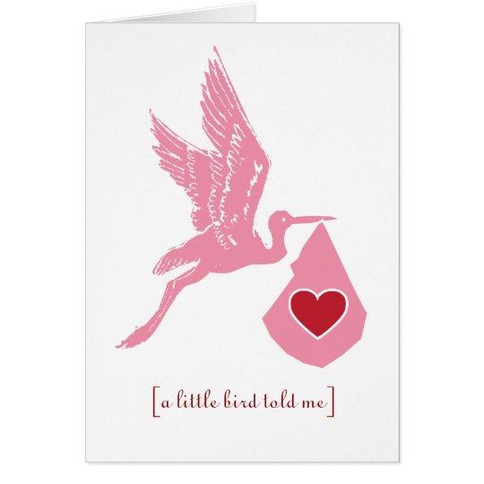 Stork Baby Shower Girls Invitation