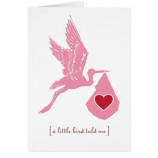 Stork Baby Shower Girls Invitation Cards