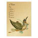STORK BABY SHOWER, gold metallic Large Business Card