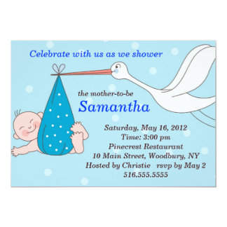 Stork Baby Shower Invitation