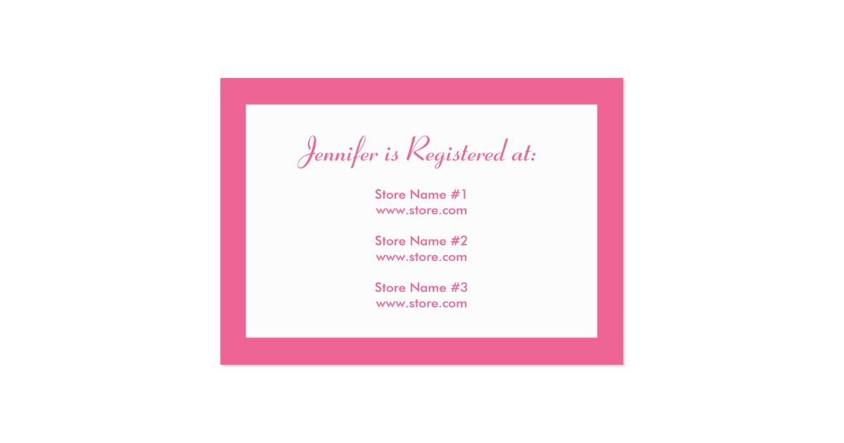 stork baby shower registry card pink zazzle