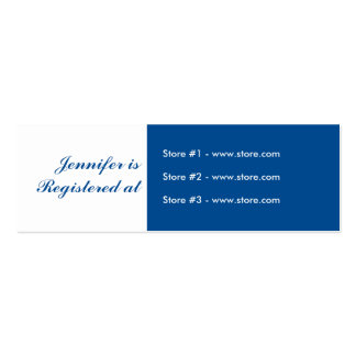 Stork Baby Shower Small Registry Card - Blue Mini Business Card