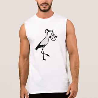 Stork baby sleeveless shirt