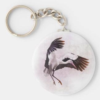 Stork Basic Round Button Keychain