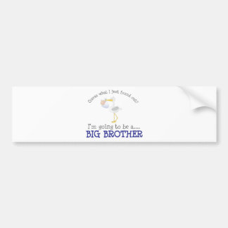 Stork Big Brother Bumper Sticker