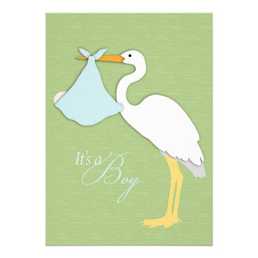 stork boy baby shower invitation 5 x 7 invitation card zazzle