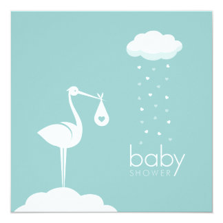 Stork Boy Delivery Baby Shower invitation