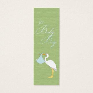 Stork Boy Skinny Gift Tag