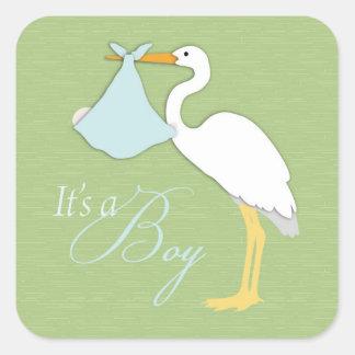Stork Boy Square Sticker