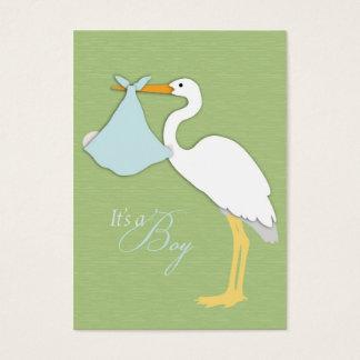 Stork Boy Thank You Card