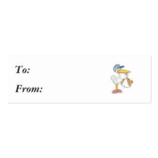 Stork Bringing Baby Bear Business Card Templates