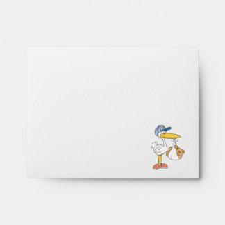 Stork Bringing Baby Bear Envelope