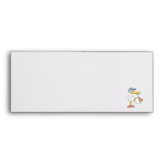 Stork Bringing Baby Bear Envelopes