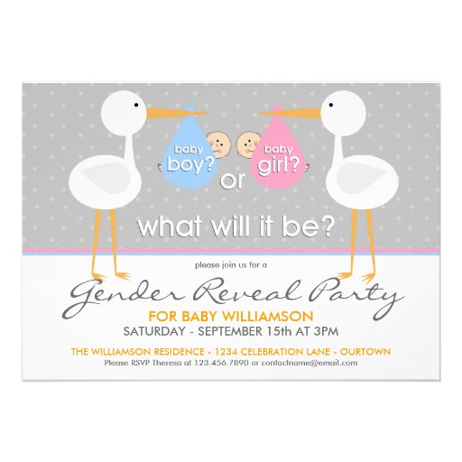 Most Popular Baby Gender Reveal Party Invitations – Stork Party Invites