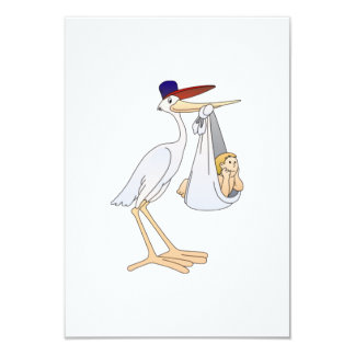 Stork Delivering a Baby Personalized Invitation