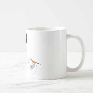 Stork delivering Baby Coffee Mug