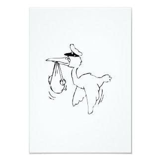 Stork Delivering Baby Custom Invite