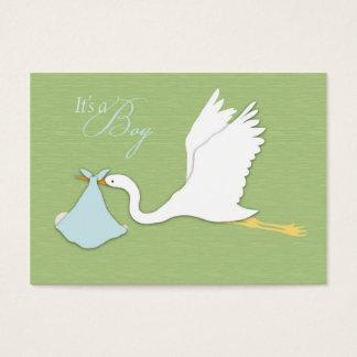 Stork Delivers Boy Reminder Card