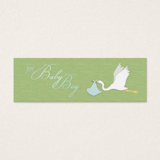 Stork Delivers Boy Skinny Gift Tag