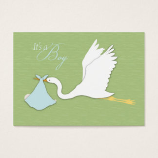 Stork Delivers Boy Thank You Card