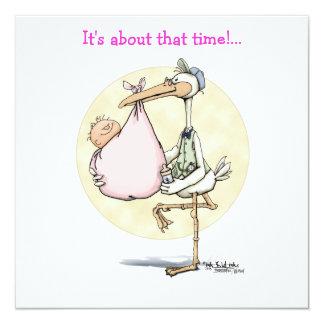 Stork Delivers Girl Card