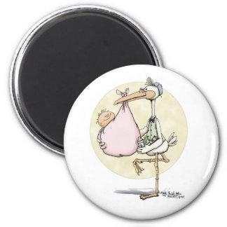 Stork Delivers Girl Magnet