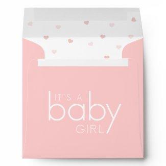 stork delivery baby girl envelope envelope