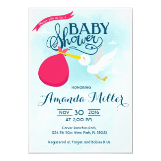 Stork delivery Baby Shower Invitation