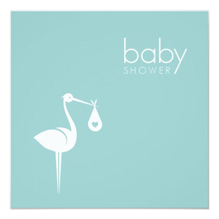 Stork delivery boy blue baby shower invitation zazzle for Baby shower stork decoration