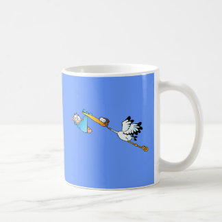 Stork Delivery for boys Coffee Mug