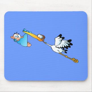 Stork Delivery for boys Mouse Pad