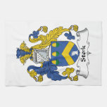 Stork Family Crest Hand Towels