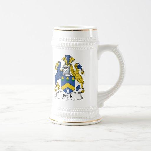 Stork Family Crest Mugs