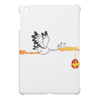 Stork Flying With Easter Egg iPad Mini Cases