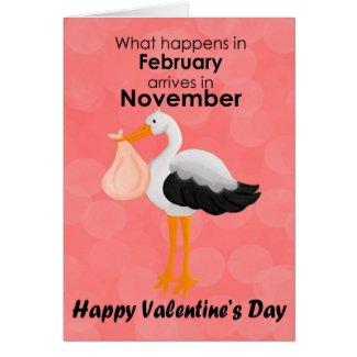 Stork Funny Valentine's Day Card