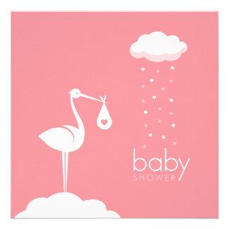 Stork Girl Delivery Baby Shower invitation
