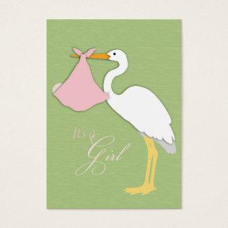 Stork Girl Thank You Card