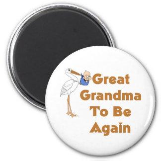 Stork Great Grandma To Be Again Magnet