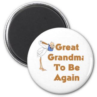 Stork Great Grandma To Be Again Magnets