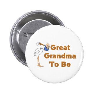Stork Great Grandma To Be Pinback Button