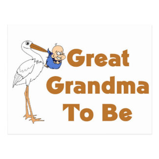 Stork Great Grandma To Be Post Cards