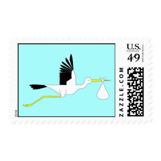 Stork Insignia Stamp - Baby Boy